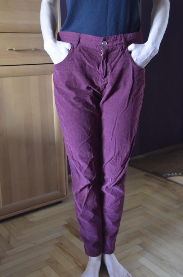 bordowe spodnie 38 40 M L