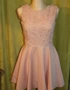 Koronkowa sukienka na wesele Morelowa sukienka...