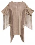 H&M against aids sukienka frędzle boho oversize...