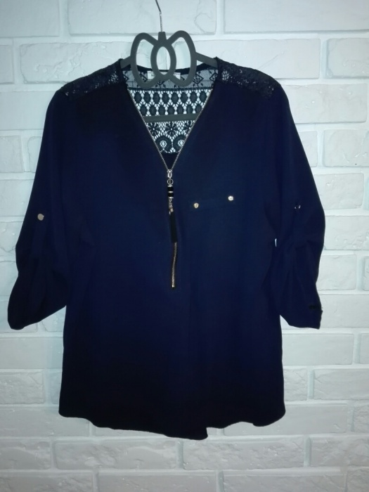 Granatowa bluzka koszula