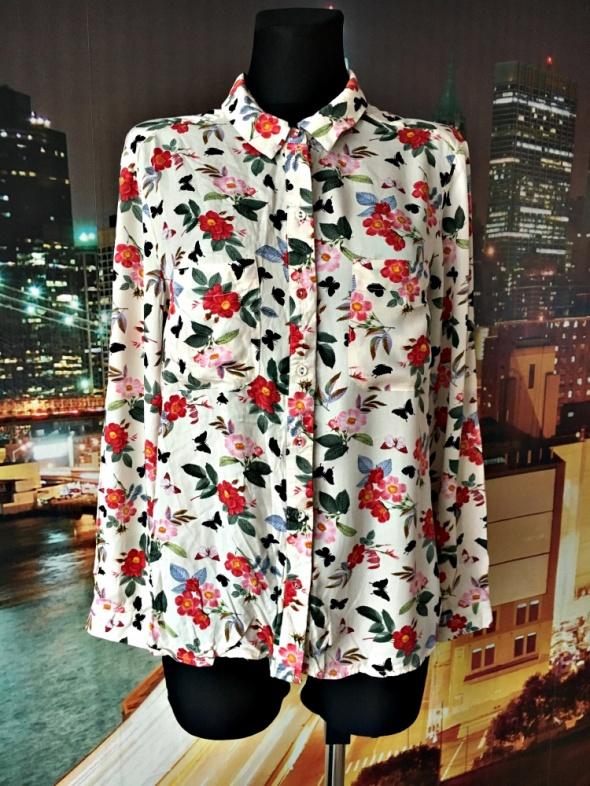oasis koszula modny wzór kwiaty motyle casual hit 42