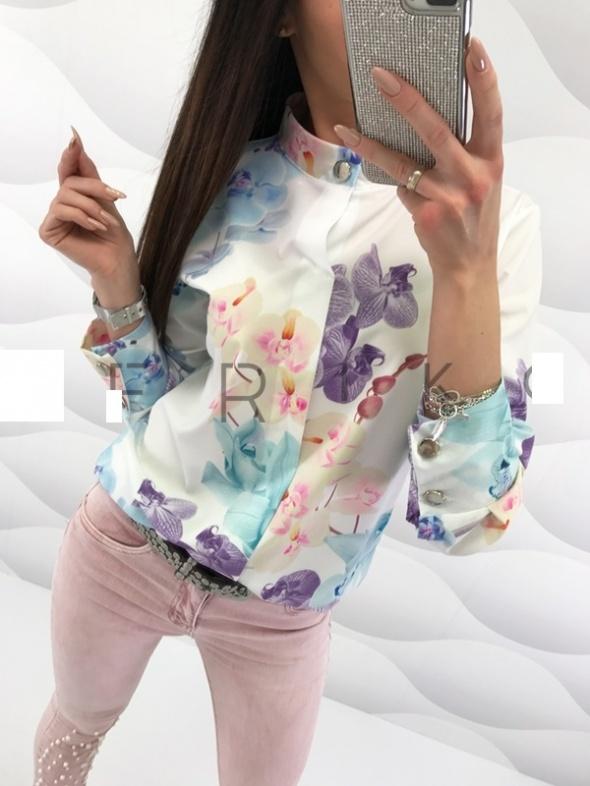 nowa bluzka koszula kwiaty fowers guziki uni hit