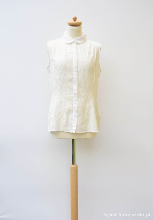 Koszula Biała H&M XL 42 Biel Oversize Modna
