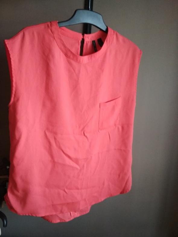 Czerwona bluzka mango S elegancka wizytowa codzienna z kieszonk...