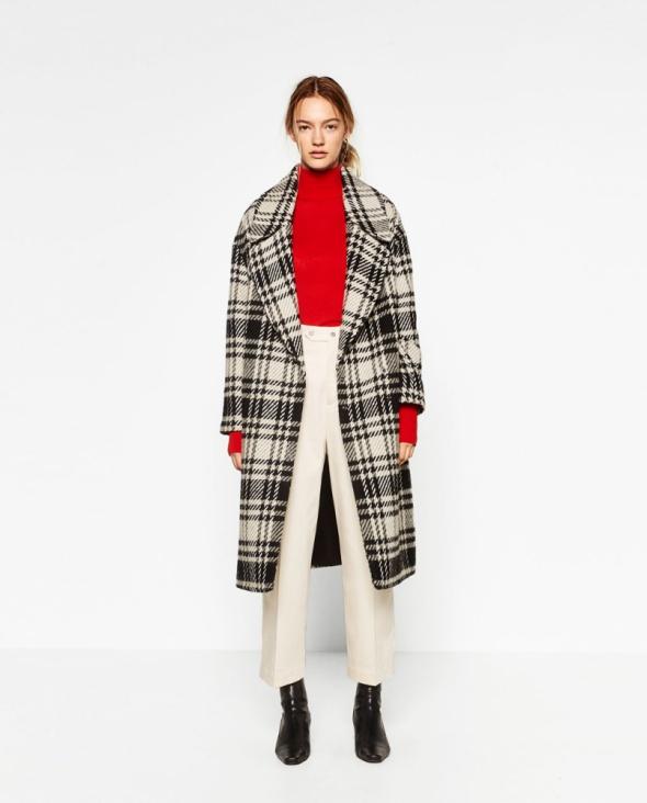 Zara płaszcz w kratę 34 XS