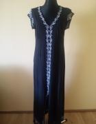 BCBGMAXAZRIA długa haftowana sukienka...