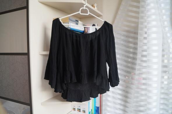 Czarna bluzka hiszpanka Zara M...