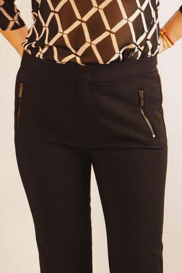 Super spodnie Mango czarne suwaki 42 L XL