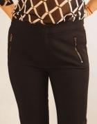 Super spodnie Mango czarne suwaki 42 L XL...