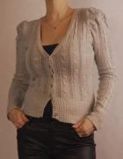 Sweterek z angorą Tally Weijl XL 42 14 szary bufki...