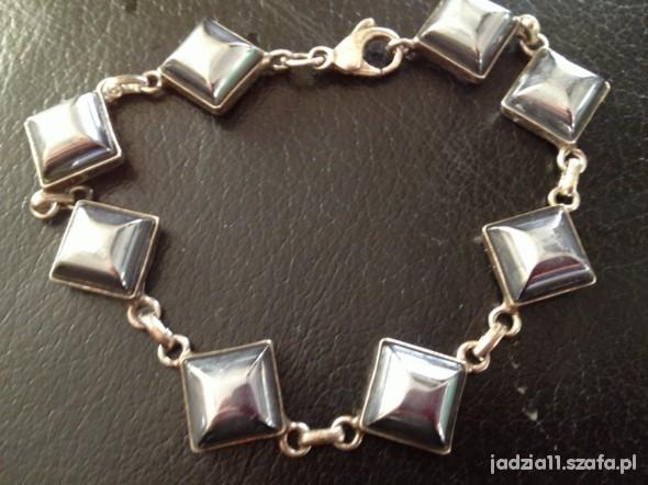 cudna srebrna bransoletka z kamieniami