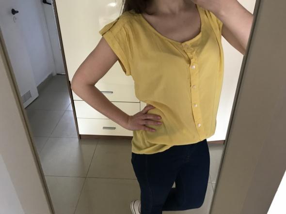 Żółta koszulka koszula pagony oversize...