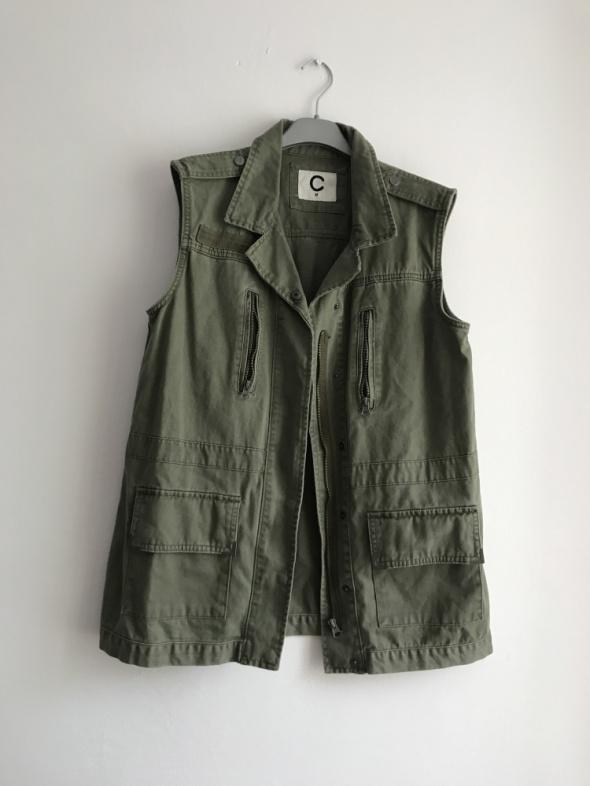 Kamizelka khaki zielona militarna M oversize Cubus...