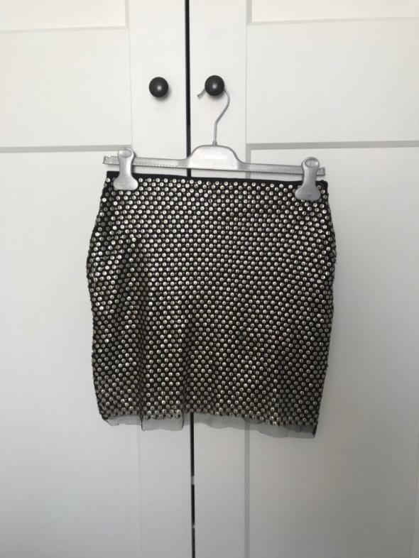 Spódniczka cekinowa mini spódnica siateczka S 36 Cubus...