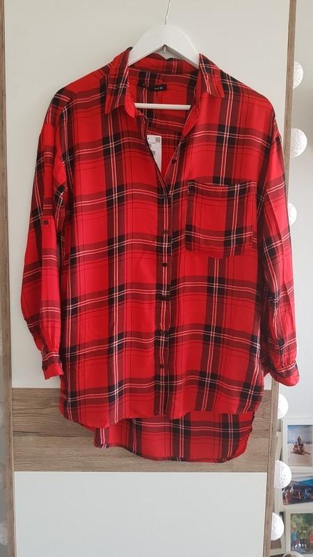 Dłuższa nowa koszula w kratę Sinsay w Koszule Szafa.pl  5NH1y