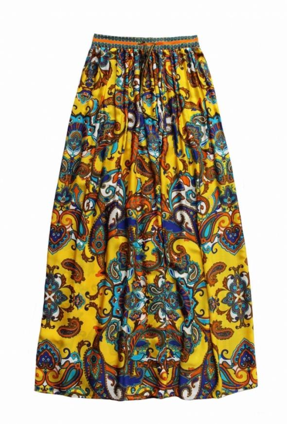 Mango maxi spódnica paisley etno wzorki