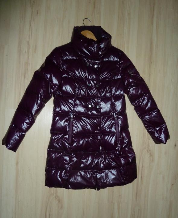 Nowa kurtka unikat kolor śliwka piękna ciepła rozS