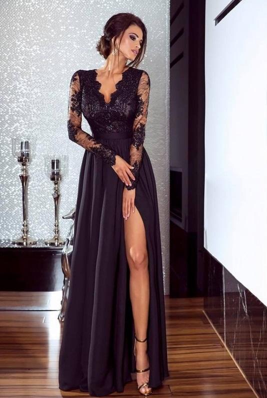 Czarna sukienka maxi luna emo