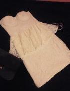 koronkowa sukienka baskinka gorsetowa...