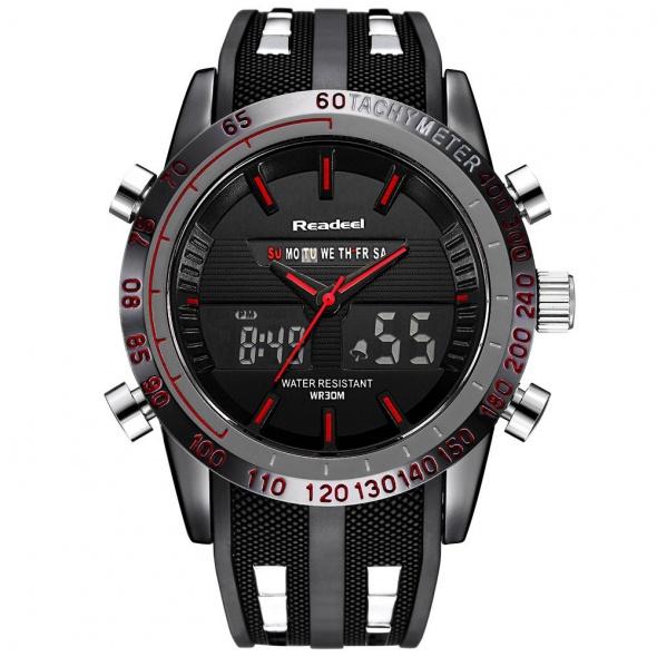 Zegarek męski sportowy READEEL PREMIUM czerwony