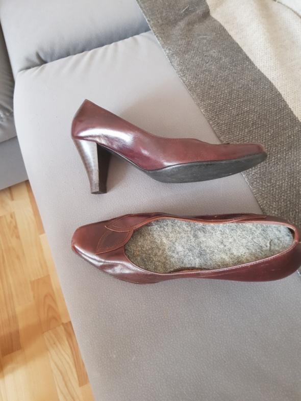 Damskie buty brazowe 38 naturalna skora licowa