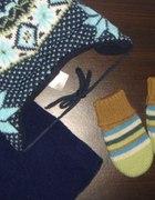 komplet 3 części czapka szalik rękawiczki...