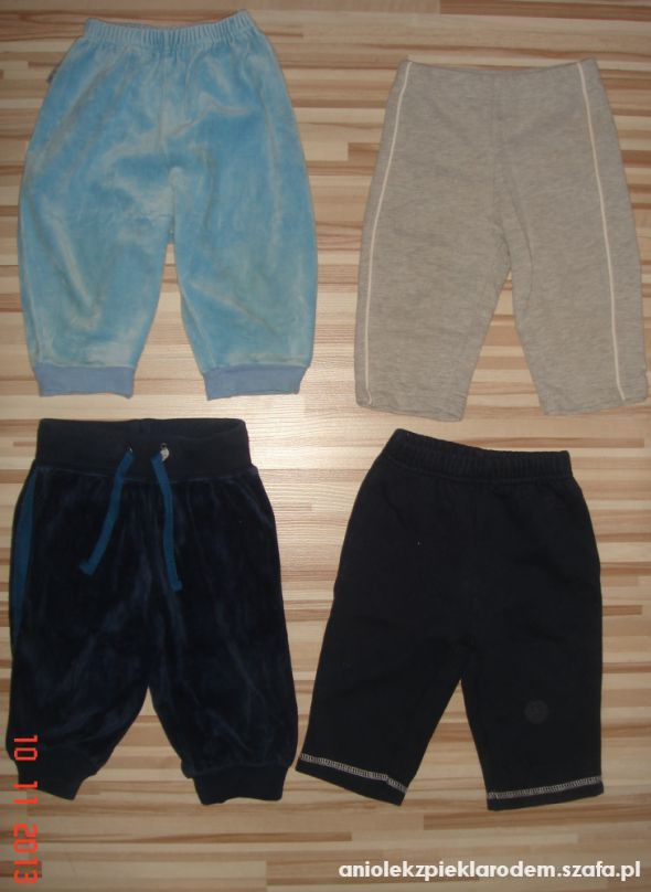 Dresy dresy i spodnie rurki na bobasa 6 9 12 mscy
