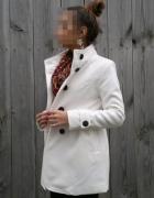 BIAŁY płaszcz płaszczyk BIEL XS 34 S 36...