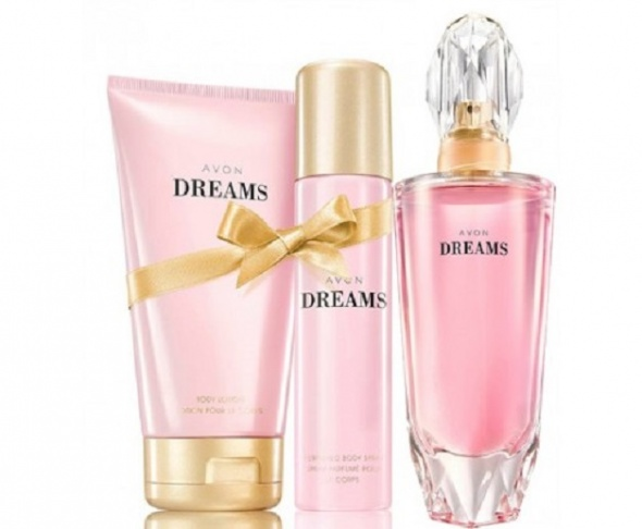 Zestaw Avon Dreams perfumy balsam dezodorant