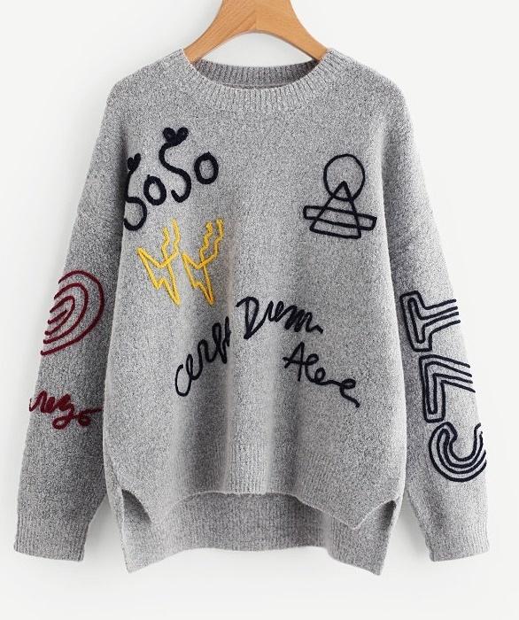 Bardzo modny ciepły sweter