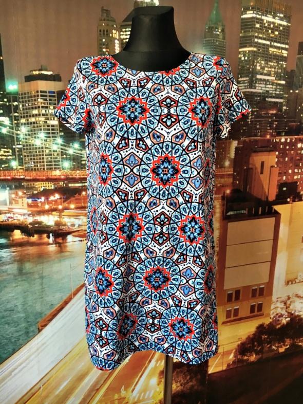 boohoo sukienka mini kalejdoskop modny wzór hit 40 L