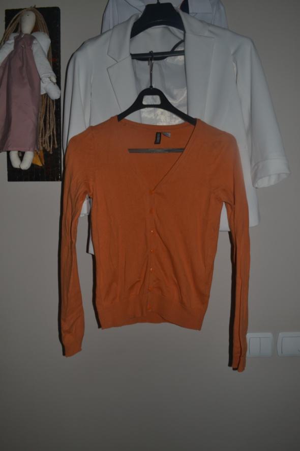Kardigan H&M pomarańcz S M