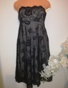 Suknia sukienka VILA rozmiar 38 M koronkowa zwiewna...