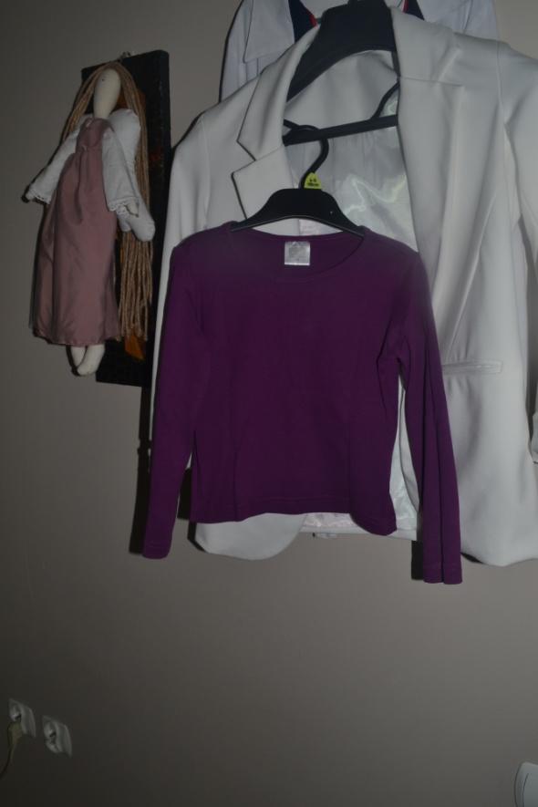 Fioletowa bluzka długi rękaw