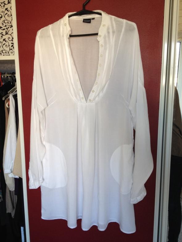 Biała tunika koszulowa długa rozm L