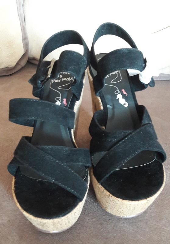Buty damskie sandały na koturnie 37