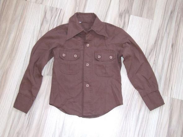 brazowa koszula rozmiar 110