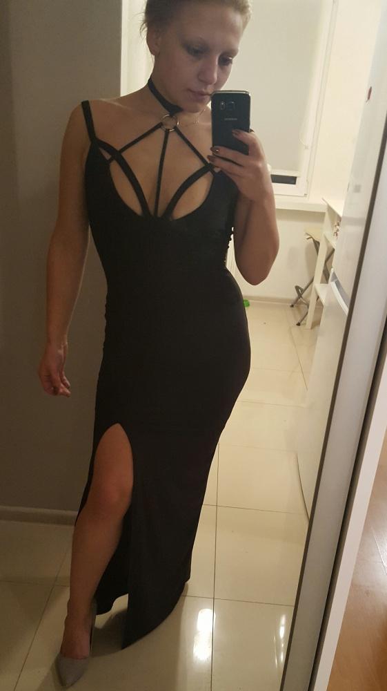 Czarna suknia