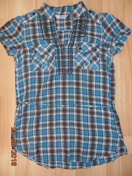 koszula bluzka letnia w kratkę 38