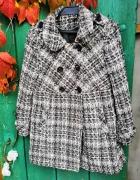 Płaszcz pepitka NEXT guziki vintage L...