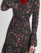 ORSAY sukienka w groszki asymetryczne rozkloszowane rękawy r 36...