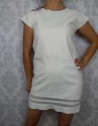 Biała eko skórzana sukienka ze skóry ekologicznej nowa Boohoo...