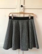 Szara melanżowa spódnica H&M...