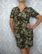 Krótka sukienka w kwiaty codzienna nowa Club L