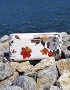 Biały portfel w kwiaty...
