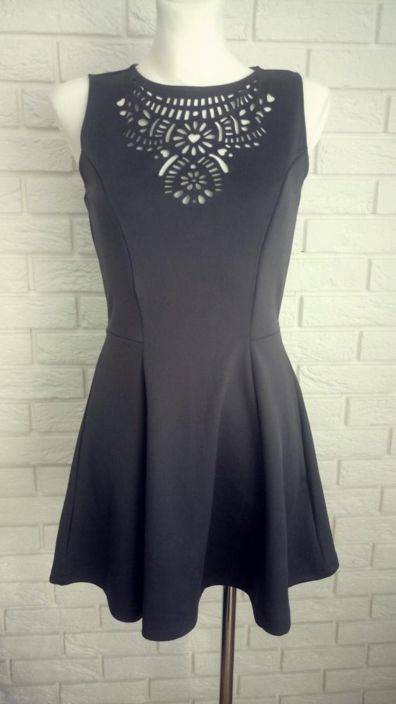 szara sukienka H&M m