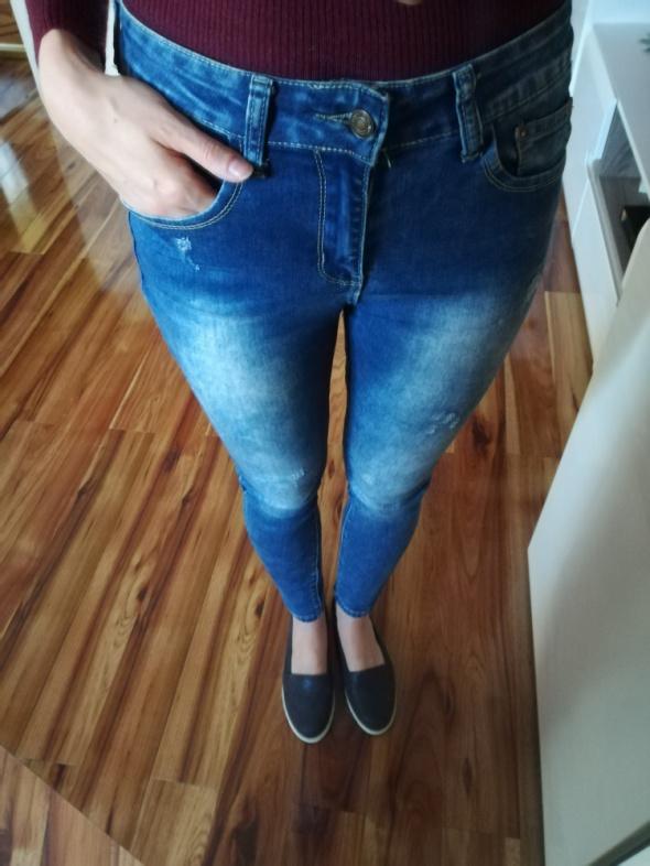 Jeansy elastyczne wysoki stan rozm s 36