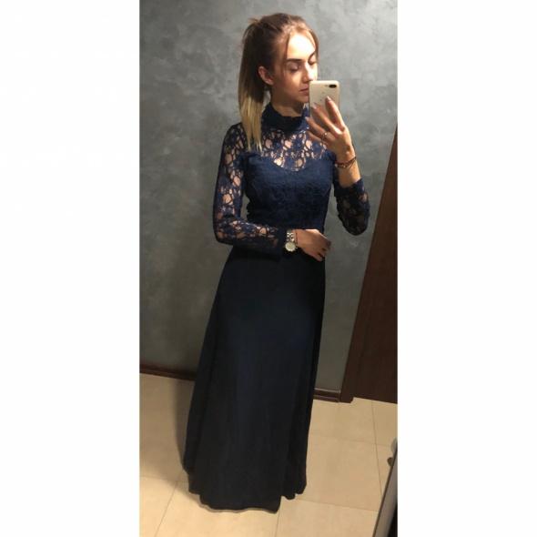 2f483a6652 Suknie i sukienki NOWA Sukienka maxi suknia długa koronkowa John Zack  Petite odkryte plecy S 36