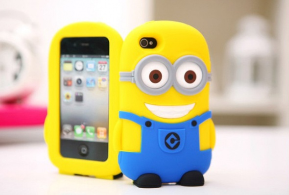 Nowe silikonowe etui case iPhone 5 5S minion minio