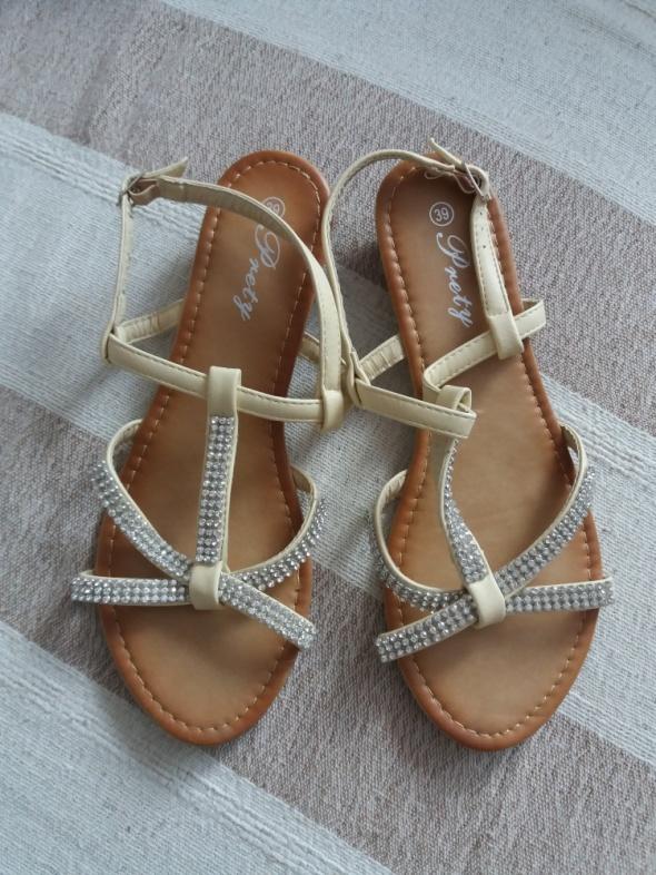 Sandały Prety Girl Kryształki 39 jNOWE